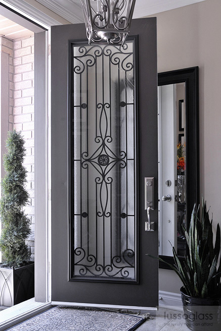 Doors Design: About Wrought Iron Inserts