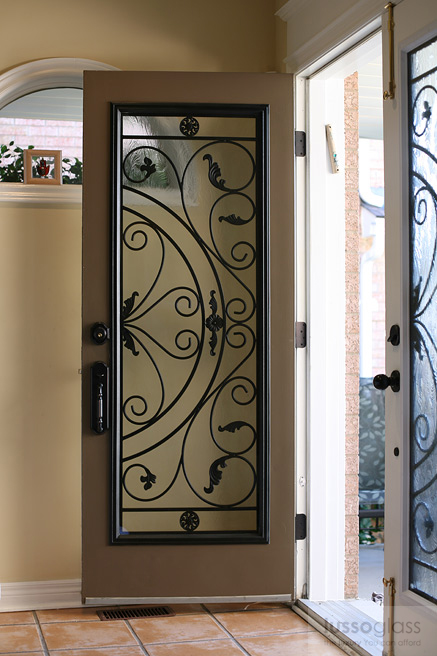 Wrought Iron Inserts By Lussoglass